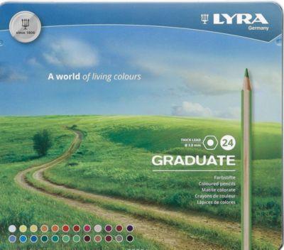 Цветные карандаши Lyra  Graduate , 24 цвета, артикул:8492959 - Рисование и раскрашивание