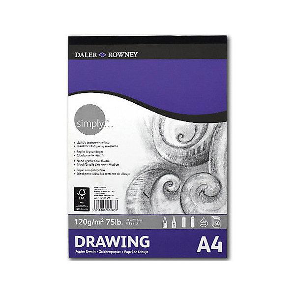 Daler Rowney Альбом для акварели Simply А4, 50 листов