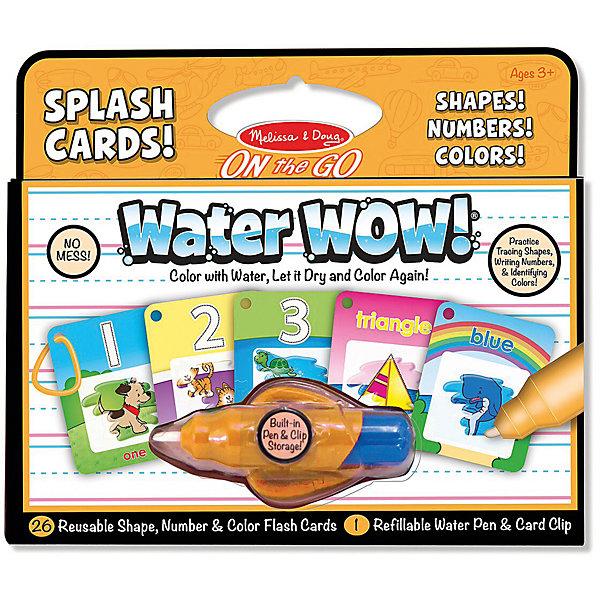 Купить Водная раскраска Melissa & Doug Карточки Формы, числа и цвета , Швейцария, Унисекс