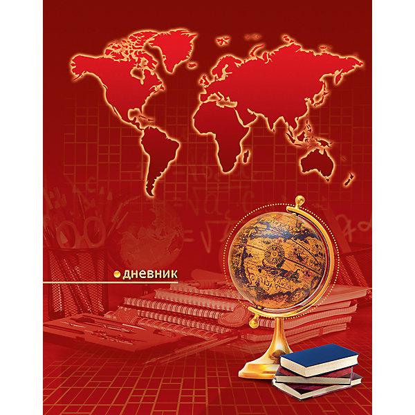 АппликА Дневник Апплика Глобус на красном фоне