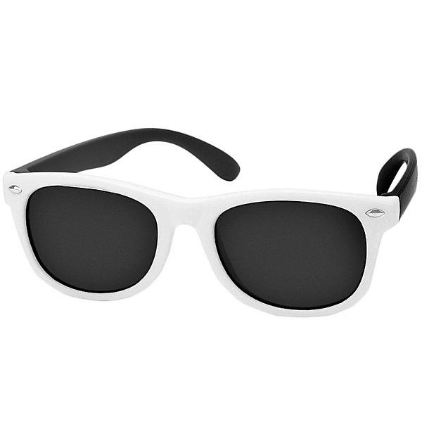 Очки солнцезащитные Happy BabyАксессуары<br>Очки солнцезащитные Happy Baby <br><br>Солнцезащитные очки HBтм отличаются не только стильным дизайном, но и обеспечивают надёжную защиту от ультрафиолетового излучения. Стёкла очков имеют показатель UV400, что означает, что линзы максимально отфильтровывают ультрафиолетовые лучи любого спектра.<br>Поликарбонат – материал, который отличается своей устойчивостью к ударным нагрузкам. Линзы из поликарбоната также являются наиболее травмобезопасными.<br>ОСОБЕННОСТИ<br>• Поляризация.<br>• Цвет линз: темно-синий.<br>• Защита от ультрафиолетового излучения: UV400.<br>• Ширина оправы: 12,5 см.<br>Состав:<br>термопластичный полиэфирный эластомер; триацетат целлюлозы<br>Ширина мм: 50; Глубина мм: 40; Высота мм: 160; Вес г: 30; Цвет: белый; Возраст от месяцев: 24; Возраст до месяцев: 60; Пол: Унисекс; Возраст: Детский; Размер: one size; SKU: 8499040;