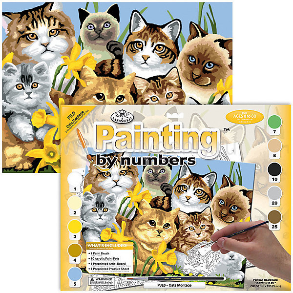 Купить Картина по номерам Royal&Langnickel Кошки , 28, 5х35 см, Китай, Унисекс
