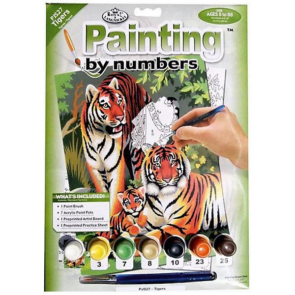 Купить PJS 27 Раскраска красками Тигры , Royal&Langnickel, Швейцария, Унисекс