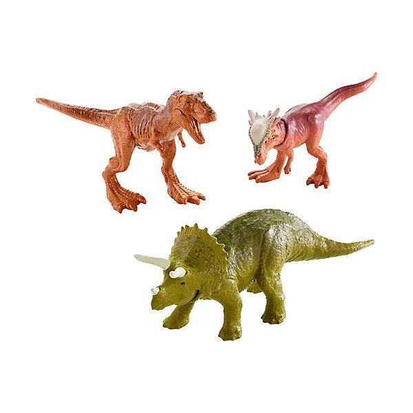 Купить Набор фигурок Jurassic World Мини-динозавры 3 шт, вид 3, Mattel, Китай, Мужской