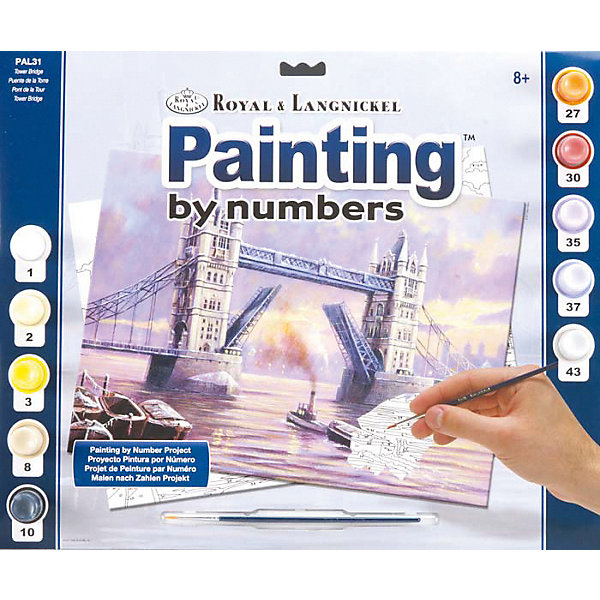 Купить Картина по номерам Royal&Langnickel Мост Тауэр , 28, 5х35 см, Китай, Унисекс