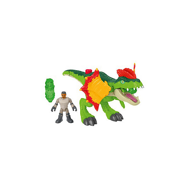 Mattel Игровой набор Jurassic World Динозавры и герои Дилофозавр и Агент mattel фигурка динозавра jurassic world мини динозавры