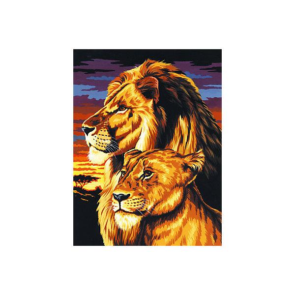 Купить Картина по номерам на холсте Royal&Langnickel Семья львов , 22х30 см, Китай, Унисекс