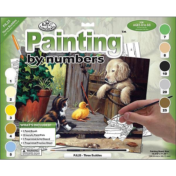 Купить PJL 25 Раскраска красками Три приятеля , Royal&Langnickel, Швейцария, Унисекс
