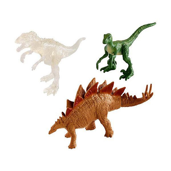 Купить Набор фигурок Jurassic World Мини-динозавры 3 шт, вид 1, Mattel, Китай, Мужской