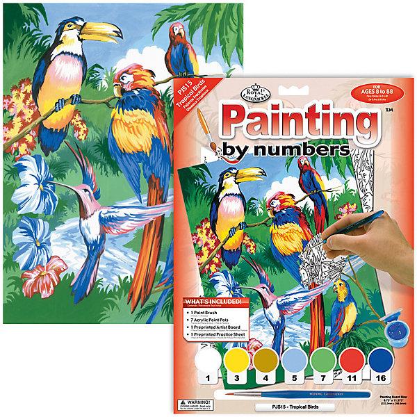 Royal&Langnickel Картина по номерам Royal&Langnickel Тропические птицы, 22х29 см