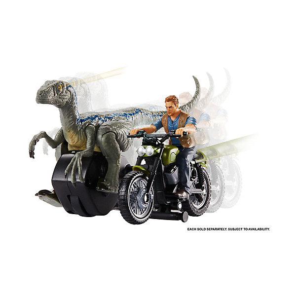 Mattel Набор фигурок Jurassic World Заводные преследователи Велоцираптор, синий