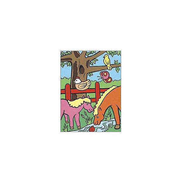 Картина по номерам для малышей Royal&amp;Langnickel На ферме, 22,5х29,8 смРаскраски для детей<br>Характеристики:<br><br>• возраст: от 4 лет;<br>• материал: бумага;<br>• комплектация: 7 акриловых красок, кисточка, контрольный лист;<br>• размер раскраски: 22,5х29,см;<br>• вес: 140 гр;<br>• размер: 30x23х2,5 см;<br>• бренд: Royal&amp;Langnickel.<br><br>MFP 008  Раскраска «На ферме» -  это изображения с пронумерованными зонами, которые обозначают определенный цвет. Номер внутри фрагмента соответствует номеру краски из набора.Раскраска изображений развивает творческое мышление, усидчивость, аккуратность. <br><br>Это увлекательное занятие понравится не только детям, но и взрослым, а получившийся шедевр станет отличным украшением интерьера или подарком. Занимаясь рисованием вместе с малышом, вы поможете развитию всей его психической деятельности: и таких важных интеллектуальных процессов, как восприятие, мышление, воображение; эмоциональности ребенка, волевой регуляции, заложите в нем стремление к творчеству и самостоятельности. <br><br>MFP 008  Раскраску «На ферме» можно купить в нашем интернет-магазине.<br>Ширина мм: 230; Глубина мм: 25; Высота мм: 300; Вес г: 140; Возраст от месяцев: 48; Возраст до месяцев: 2147483647; Пол: Унисекс; Возраст: Детский; SKU: 8506355;