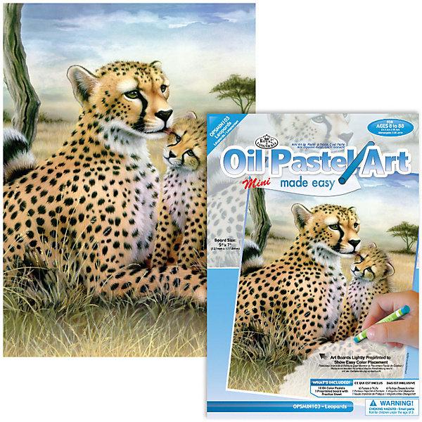 Royal&Langnickel Мини-картина по номерам пастелями Royal&Langnickel Леопарды, 14х20 см набор для тв ва картина по номерам средняя леопарды