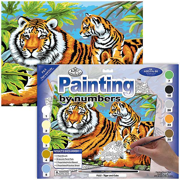 Купить Картина по номерам Royal&Langnickel Семья тигров , 28, 5х35 см, Швейцария, Унисекс