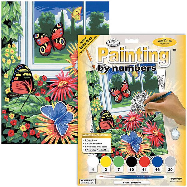 Купить Картина по номерам Royal&Langnickel Бабочки , 22х29 см, Китай, Унисекс