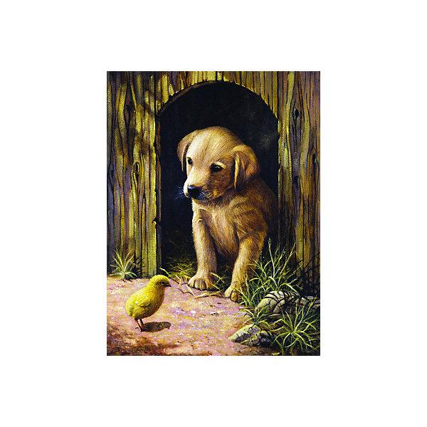 Купить Картина по номерам Royal&Langnickel Щенок с цыплёнком , 22х29 см, Китай, Унисекс