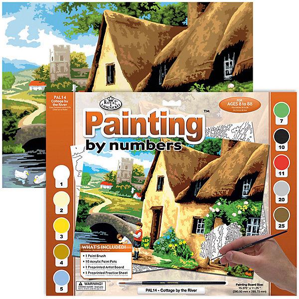 Купить PAL 14 Раскраска красками Дом у реки , Royal&Langnickel, Швейцария, Унисекс