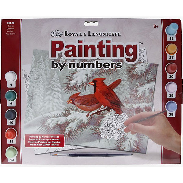 Купить PAL 32 Раскраска красками Кардиналы , Royal&Langnickel, Швейцария, Унисекс