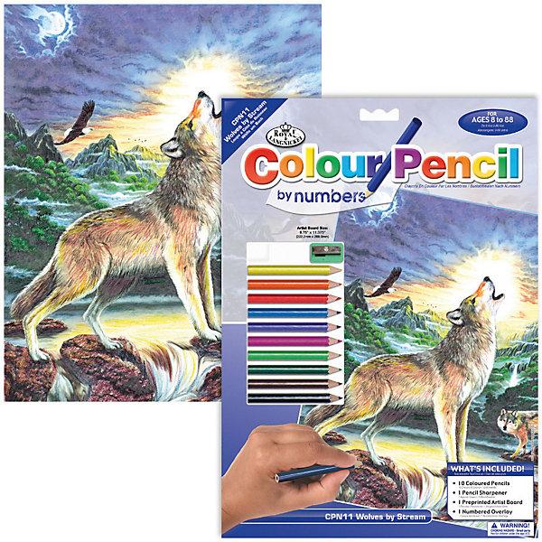 Купить CPN 11 Раскраска карандашами Волк , Royal&Langnickel, Швейцария, Унисекс