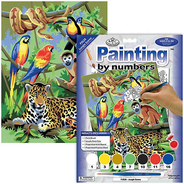 Купить PJS 28 Раскраска красками В джунглях , Royal&Langnickel, Швейцария, Унисекс