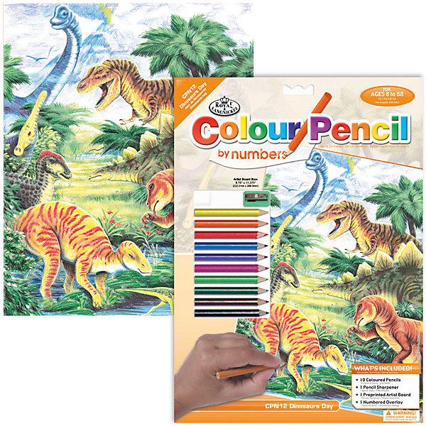 Купить CPN 12 Раскраска карандашами Динозавры , Royal&Langnickel, Швейцария, Унисекс