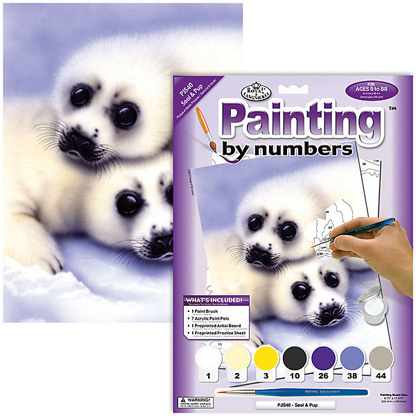 Купить Картина по номерам Royal&Langnickel Тюлени , 22х29 см, Китай, Унисекс