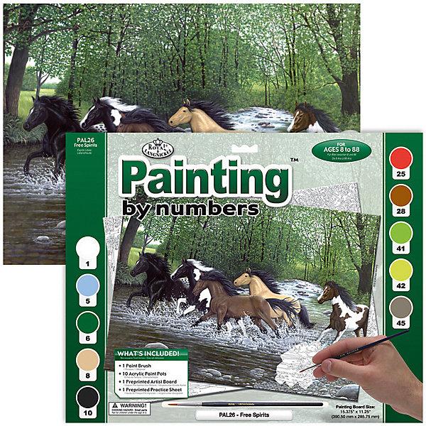 Купить PAL 26 Раскраска красками Бегущие лошади , Royal&Langnickel, Швейцария, Унисекс