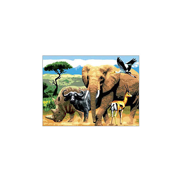 Royal&Langnickel Картина по номерам Royal&Langnickel Африканские животные, 28,5х35 см раскраска по номерам африканские львы 28x39см