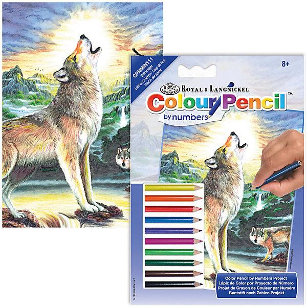 Мини-картина по номерам карандашами Royal&amp;Langnickel Волк, 14х20 смКартины по номерам<br>Характеристики:<br><br>• возраст: от 8 лет;<br>• материал: бумага;<br>• комплектация: основа, 10 карандашей, контрольный лист;<br>• размер раскраски: 14х20 см;<br>• вес: 120 гр;<br>• размер: 14x1х20 см;<br>• бренд: Royal&amp;Langnickel.<br><br>CPNMIN-111 Раскраска карандашами «Волк» мини подходит для детей от 8 лет. В набор входит основа с нанесенной на ней схемой рисунка размер 14*20 см, цветные карандаши 10 цветов, контрольный лист. Рисунок разделен на небольшие участки, каждый из которых следует раскрашивать карандашом, соответствующего цвета. <br><br>Все карандаши имеют номер. Для удобства, в набор входит калька, дублирующая рисунок раскраски. На ней каждый участок рисунка пронумерован. С помощью накладывания кальки на рисунок, можно определить карандашом какого цвета следует раскрашивать тот или иной фрагмент рисунка. <br><br>CPNMIN-111 Раскраску карандашами «Волк» мини можно купить в нашем интернет-магазине.<br>Ширина мм: 140; Глубина мм: 10; Высота мм: 200; Вес г: 120; Возраст от месяцев: 96; Возраст до месяцев: 2147483647; Пол: Унисекс; Возраст: Детский; SKU: 8506626;