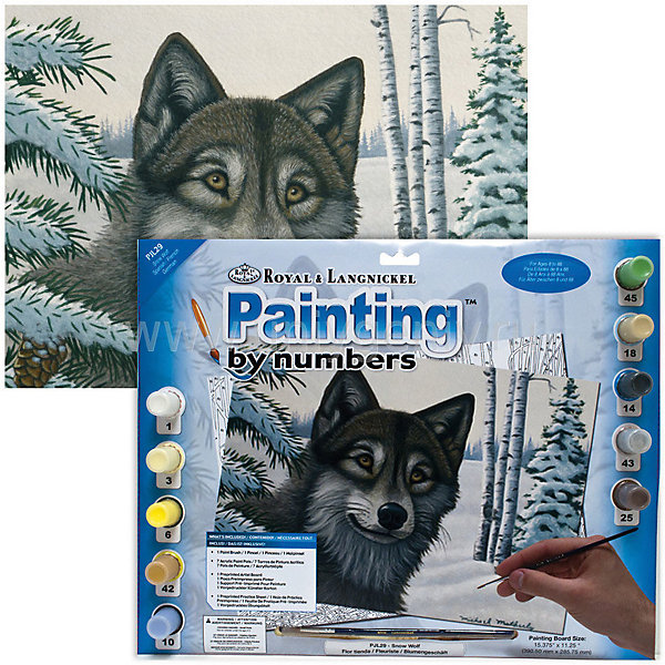 Купить Картина по номерам Royal&Langnickel Волк , 28, 5х35 см, Китай, Унисекс
