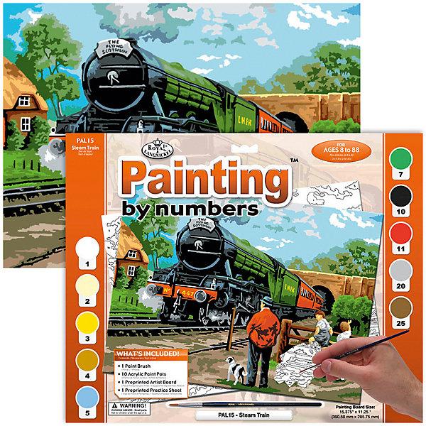 Купить PAL 15 Раскраска красками Паровоз , Royal&Langnickel, Швейцария, Унисекс