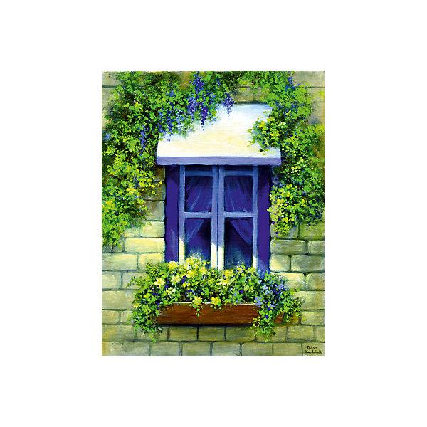"""Royal&Langnickel Картина по номерам на холсте Гризайль Royal&Langnickel """"Европейское окно"""", 28х35 см"""