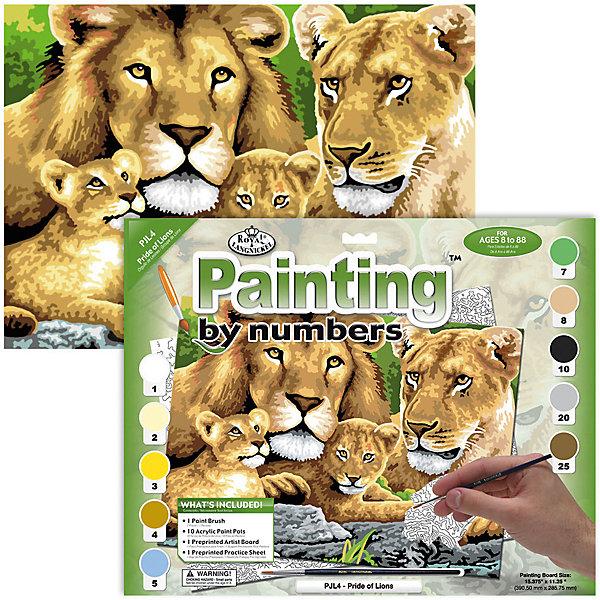 Купить Картина по номерам Royal&Langnickel Семья львов , 28, 5х35 см, Швейцария, Унисекс