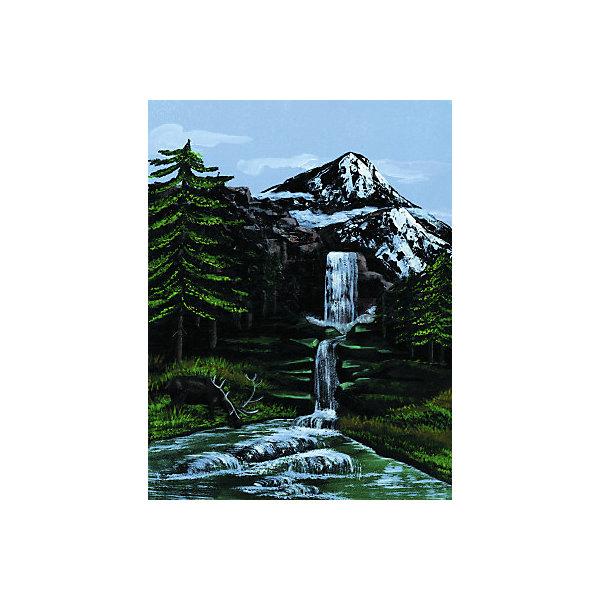 Купить Картина по номерам на холсте Royal&Langnickel Горный водопад , 22х30 см, Китай, Унисекс