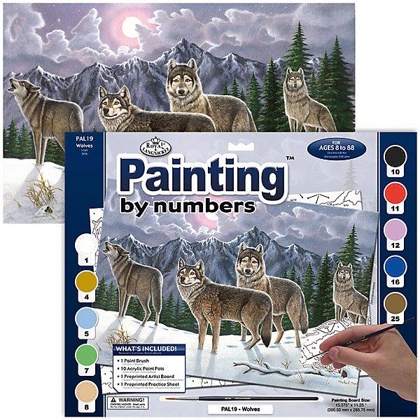 Купить PAL 19 Раскраска красками Волки , Royal&Langnickel, Швейцария, Унисекс