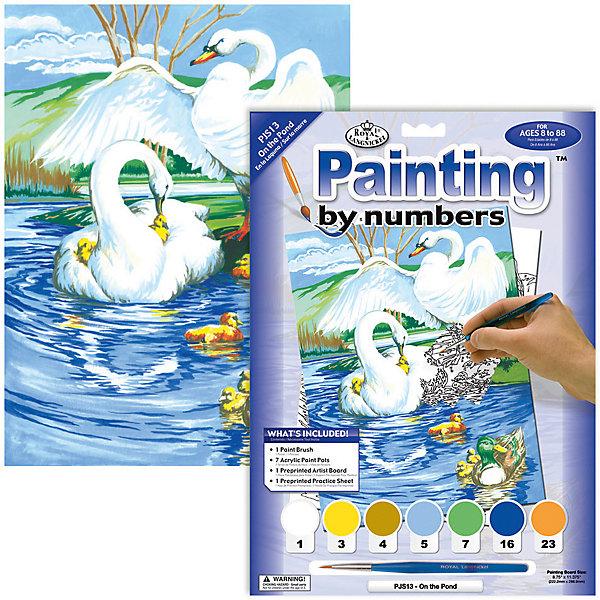 Royal&Langnickel Картина по номерам На пруду, 22х29 см