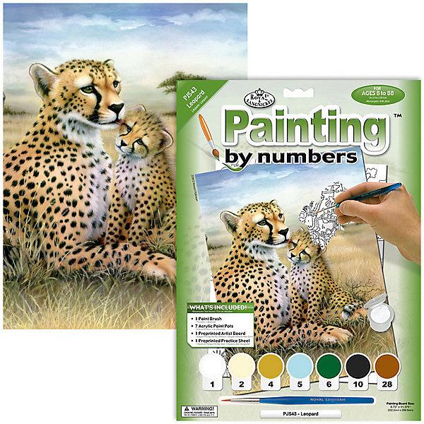 Купить PJS 43 Раскраска красками Леопард , Royal&Langnickel, Швейцария, Унисекс
