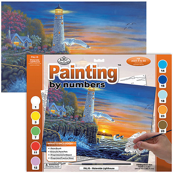 Купить Картина по номерам Royal&Langnickel Маяк , 28, 5х35 см, Китай, Унисекс