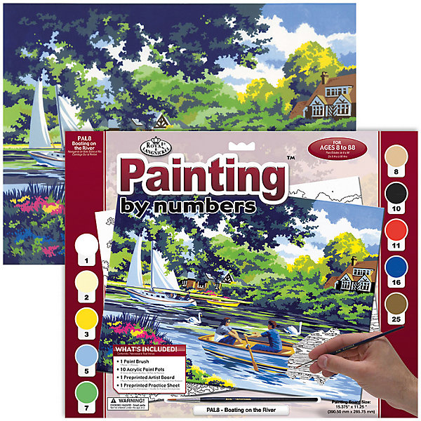 Купить PAL 08 Раскраска красками Лодки на реке , Royal&Langnickel, Швейцария, Унисекс