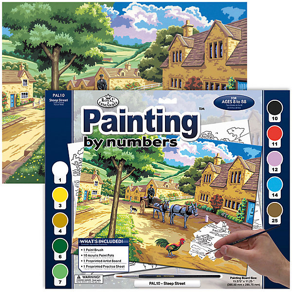 Купить PAL 10 Раскраска красками Тихая улочка , Royal&Langnickel, Швейцария, Унисекс