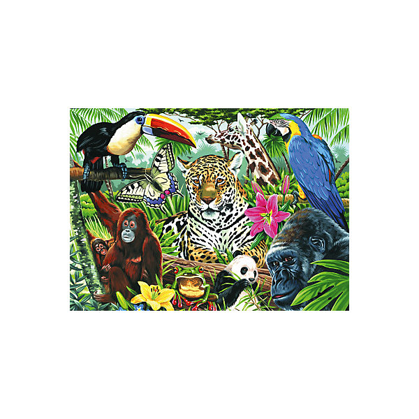 Купить Картина по номерам на холсте Royal&Langnickel Зоопарк , 28х35 см, Китай, Унисекс