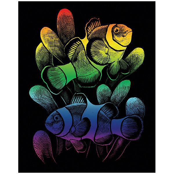 Гравюра Royal&amp;Langnickel Рыбки Клоуны, радужнаяГравюры для детей<br>Характеристики:<br><br>• возраст: от 8 лет;<br>• материал: пластик, картон;<br>• комплектация: гравюра, скребок;<br>• вес: 100 гр;<br>• размер: 21,3x1,5х29,5 см;<br>• бренд: Royal&amp;Langnickel.<br><br>RAIN 24 Гравюра радужная «Рыбки «клоуны» с металлическим эффектом  содержит в комплекте основу с нанесенным контуром и специальный штихель. Удивительное искусство создания гравюр имеет давнюю, многовековую историю. В наши дни этот вид творчества по-прежнему популярен. Более того, теперь он стал доступен даже для детей.<br><br>Рисунок нанесен на черном матовом покрытии, под которым скрыта основа бронзового цвета. Чтобы получить рисунок с эффектом настоящей гравюры достаточно процарапать покрытие по контуру рисунка, обнажиться скрытый слой и гравюра засверкает металлическим блеском.<br><br>Основа - плотный картон со специальным черным матовым покрытием и с нанесенным на него контуром-наброском. Аккуратно сцарапывайте покрытие с наброска с помощью специального штихеля или скребка, не делая глубоких вырезов и точно следуя рисунку.<br><br>RAIN 24 Гравюру радужную «Рыбки «клоуны» можно купить в нашем интернет-магазине.<br>Ширина мм: 213; Глубина мм: 15; Высота мм: 295; Вес г: 100; Возраст от месяцев: 96; Возраст до месяцев: 2147483647; Пол: Унисекс; Возраст: Детский; SKU: 8506937;