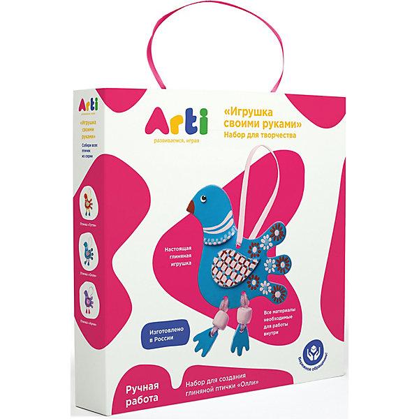 Arti Набор для создания глиняной птички Arti Олли arti набор для создания глиняной птички олли