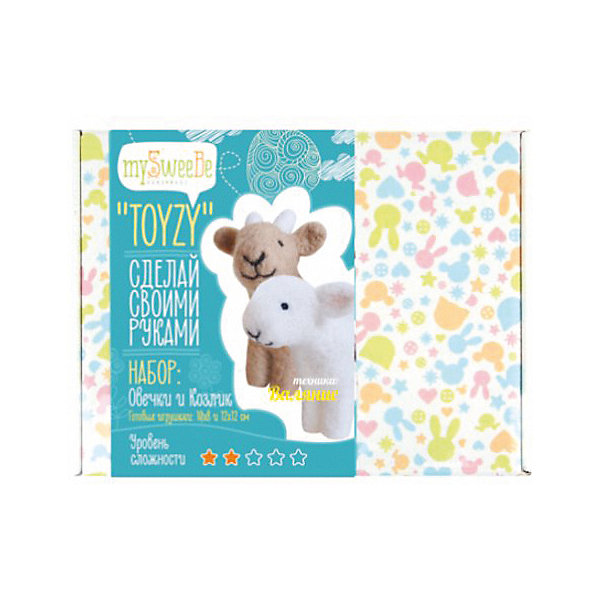 TOYZY Набор для валяния Toyzy Овечка и козлик набор для вязания и валяния toyzy овечка tz m002