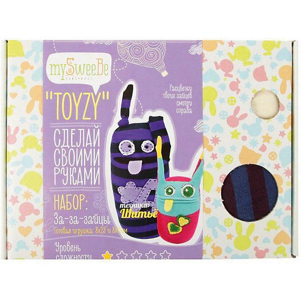 TOYZY Набор для шитья Toyzy За-за-зайцы toyzy набор для шитья игрушки за за зайцы