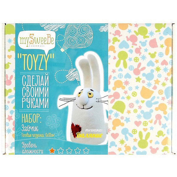 TOYZY Набор для валяния Toyzy Зайчик toyzy набор для шитья игрушки за за зайцы