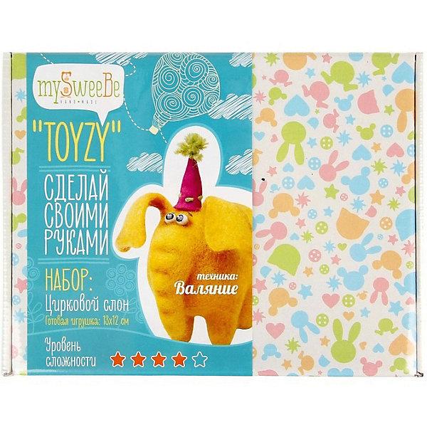 TOYZY Набор для валяния Toyzy Слон toyzy набор для валяния toyzy божья коровка