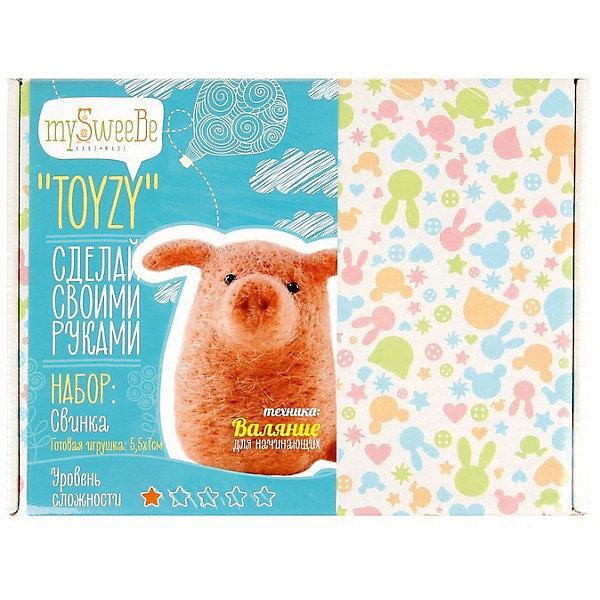 цена на TOYZY Набор для валяния Toyzy Свинка