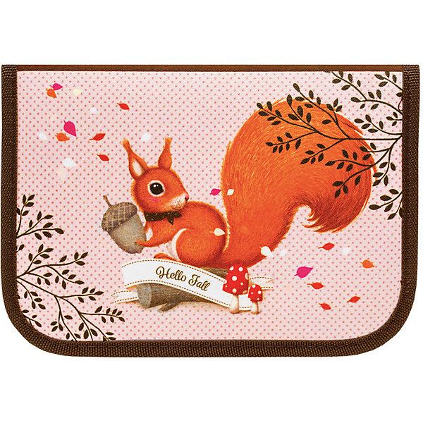 Пенал с наполнением Tiger Family Nature Quest Collection Woodland MagicПеналы с наполнением<br>Характеристики:<br><br>• школьный пенал для девочек;<br>• 1 отделение + 1 откидная планка;<br>• пенал с наполнением: 23 предмета;<br>• материал: полиэстер;<br>• размер пенала в сложенном виде: 19,5x13,5x3,3 см;<br>• соответствие дизайну: ранец1804/G/TG.<br><br>Школьный пенал выполнен в бежево-коричневом цвете. Пенал имеет одно отделение и откидную планку. Чтобы канцелярские товары были на своих местах, внутри пенала предусмотрены крепления – эластичные резинки. Наполнение: 6 цветных карандашей, 6 фломастеров, 2 чернографитных карандаша, 1 держатель для ручки/карандаша, 1 ластик, 1 двойная точилка для карандашей разного диаметра, 1 прозрачная линейка 17 см, 1 прозрачный треугольник 7см 90 градусов, 3 пластиковые скрепки, 1 расписание уроков.<br><br>Пенал Tiger Family «Nature Quest Collection» Woodland Magic, Squirrell «Осенний листопад» бежево-коричневый можно купить в нашем интернет-магазине.<br>Ширина мм: 195; Глубина мм: 135; Высота мм: 33; Вес г: 240; Цвет: бежевый; Возраст от месяцев: 84; Возраст до месяцев: 2147483647; Пол: Женский; Возраст: Детский; SKU: 8518109;