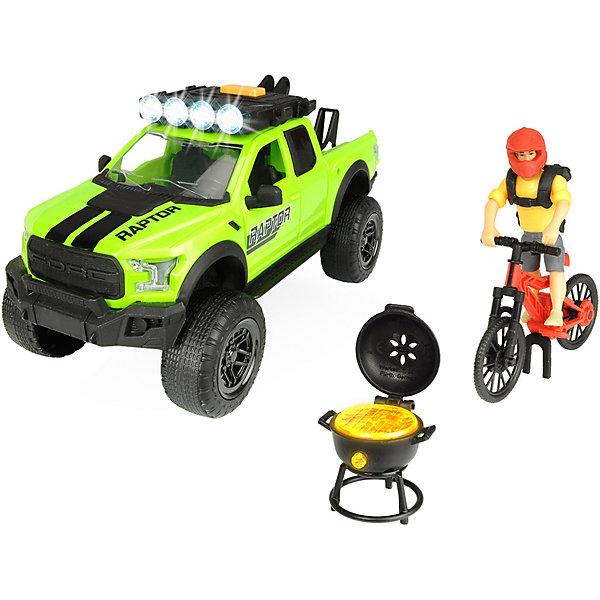 Dickie Toys Игровой набор велосипедиста Dickie Toys Ford Raptor PlayLife, 25 см игровой набор dickie toys playlife набор туриста